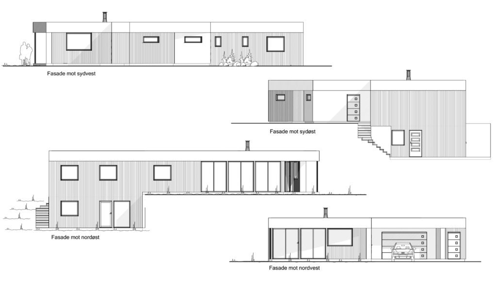 Tegninger av huset